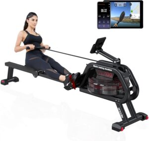 SNODE WR100 Water Rowing Machine with Bluetooth APP