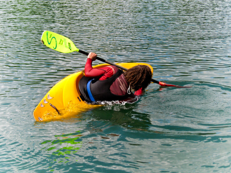 kayak capsizing