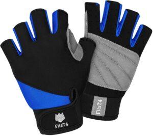 FitsT4 Unisex 3/4 Finger Gloves for Water Ski, Canoeing